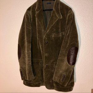 Polo Ralph Lauren Corduroy Blazer Leather Patch L